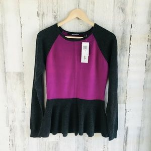 NWT $218 Quotation Bloomingdales Cashmere Colorblo